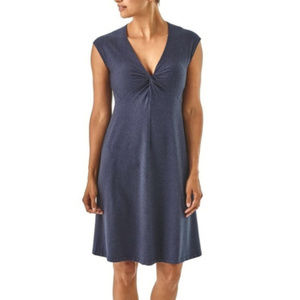 Patagonia Seabrook Bandha Dress Blue Large